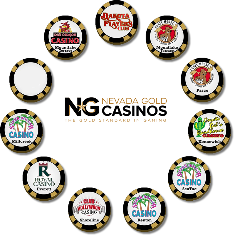 A Picture of Chips from each of our Casino Properties